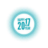Happy new year 2017. Round banner with rays. happy new year 2017. Decoration collection. frames, vintage labels Stock Photos