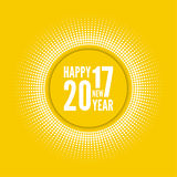 Happy new year 2017. Round banner with rays. happy new year 2017. Decoration collection. frames, vintage labels. for greeting card, flyer, invitation, poster stock illustration