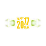 Happy new year 2017. Round banner with rays. happy new year 2017. Decoration collection. frames, vintage labels. for greeting card, flyer, invitation, poster royalty free illustration