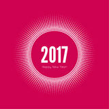 Happy new year 2017. Round banner with rays. happy new year 2017. Decoration collection. frames, vintage labels. for greeting card, flyer, invitation, poster Royalty Free Stock Images