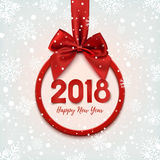 Happy New Year 2018 round banner. Royalty Free Stock Photography