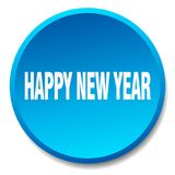 Happy new year button. Happy new year round button isolated on white background. happy new year vector illustration