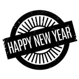Happy New Year rubber stamp Stock Photography