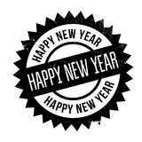 Happy New Year rubber stamp Stock Photos
