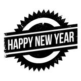 Happy New Year rubber stamp. Grunge design with dust scratches. Effects can be easily removed for a clean, crisp look. Color is easily changed royalty free illustration