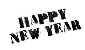 Happy New Year rubber stamp Stock Image