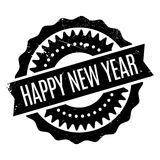Happy New Year rubber stamp. Grunge design with dust scratches. Effects can be easily removed for a clean, crisp look. Color is easily changed vector illustration