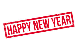 Happy New Year rubber stamp Stock Photo