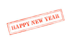 `happy new year ` rubber stamp over a white background. Design royalty free illustration