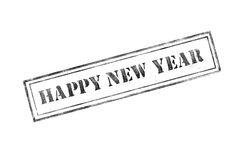 `happy new year ` rubber stamp over a white background. Design stock illustration