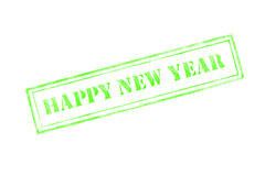 `happy new year ` rubber stamp over a white background. Design vector illustration