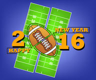 Happy new year and rugby Royalty Free Stock Image