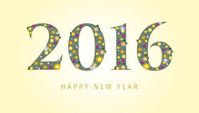 Happy New Year 2016. 2016, New Year's Eve, Vector illustration Royalty Free Stock Image