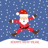 Happy New Year 2018 and Santa claus. Happy New Year  and Santa claus Stock Photo