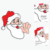 Happy new year 2017 with santa clause in colorful illustration. Happy new year 2017 with santa clause design in colorful illustration royalty free illustration