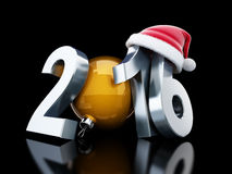 Happy new year 2016 santa hat Stock Photo