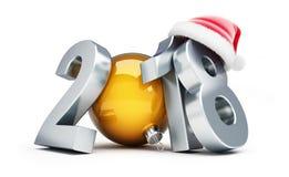 Happy new year 2018 santa hat Royalty Free Stock Photo