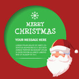 Happy New Year Santa Talk Design Royalty Free Stock Photos