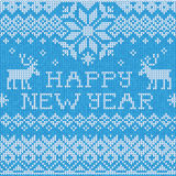 Happy New Year: Scandinavian style seamless knitted pattern with Stock Images