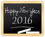Happy New Year 2016 on a school slate. Stock Photography