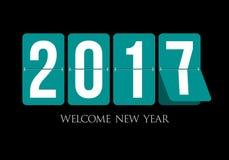 Happy New Year 2017 scoreboard design. Royalty Free Stock Photography