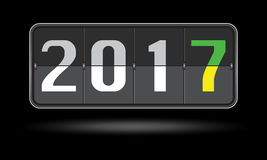 Happy New Year 2017 scoreboard design. Stock Photo
