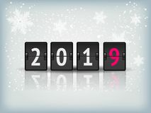Countdown timer 2019 for New year design vector stock photo