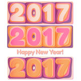 Happy New Year 2017 scoreboard vector illustration. Set of digits Happy New Year 2017 scoreboard vector illustration. Design for greeting card, poster or web Vector Illustration
