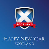 Happy new year Scotland vector Royalty Free Stock Image