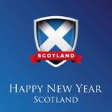 Happy new year Scotland vector Royalty Free Stock Image