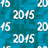 Happy New Year 2015. Seamless blue vector background Stock Photography
