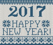 Happy New Year 2017 seamless pattern Royalty Free Stock Photography