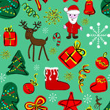 Happy new year seamless pattern Stock Photos