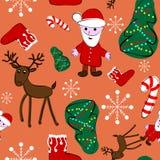 Happy new year seamless pattern Royalty Free Stock Photo