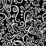 Happy New Year seamless winter pattern with curls.new year`s card. Vector illustration stock illustration