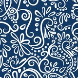 Happy New Year seamless winter pattern with curls.new year`s card. Vector illustration royalty free illustration