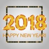 Happy New 2018 Year season background Royalty Free Stock Photo