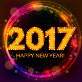 Happy New 2017 Year season background. Vector illustration Royalty Free Stock Photography