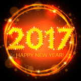 Happy New 2017 Year season background. Vector illustration Stock Photography