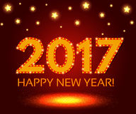 Happy New 2017 Year season background. Vector illustration Royalty Free Stock Photography