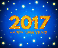 Happy New 2017  Year season background. Vector illustration Stock Photo