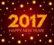Happy New 2017 Year season background. Vector illustration Royalty Free Stock Photo