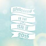 Happy New Year 2015 Season Greetings Royalty Free Stock Photography