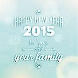 Happy New Year 2015 Season Greetings Royalty Free Stock Image