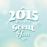 Happy New Year 2015 Season Greetings Royalty Free Stock Image