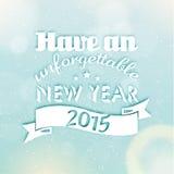 Happy New Year 2015 Season Greetings Royalty Free Stock Photos