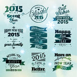 Happy New Year 2015 Season Greetings. Quote Vector Design Royalty Free Stock Photo