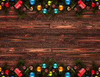 2017 Happy New Year seasonal background with Christmas baubles Royalty Free Stock Image