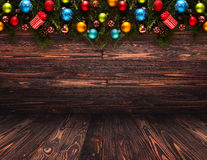 2017 Happy New Year seasonal background with Christmas baubles stock photos