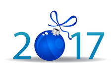 Happy New 2017 year. Seasons greetings. Happy New 2017 year Royalty Free Stock Photography